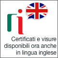Visure in inglese